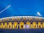 Стадион «Динамо» вечером