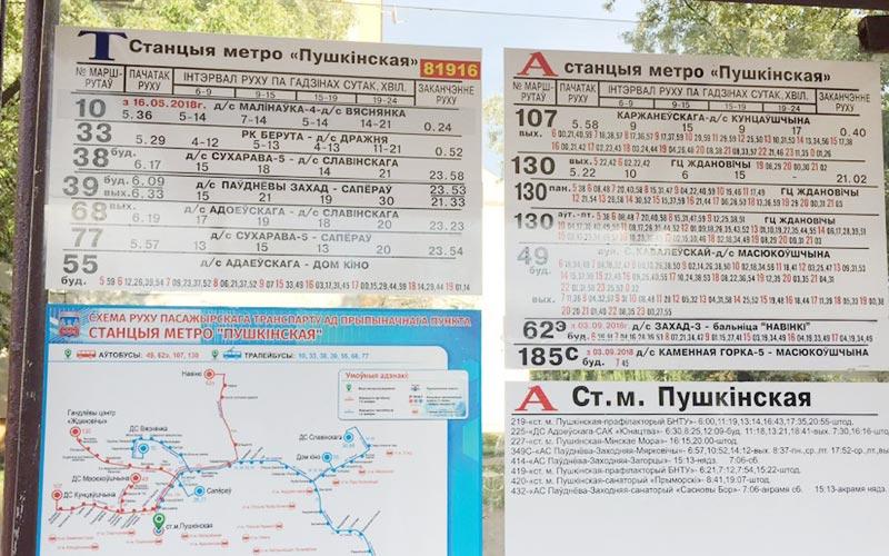 схемы местных маршрутов
