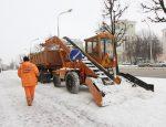уборка улиц от снега, минск