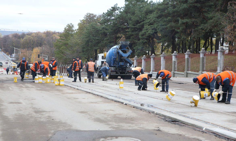 ремонт трамвайных путей, минск