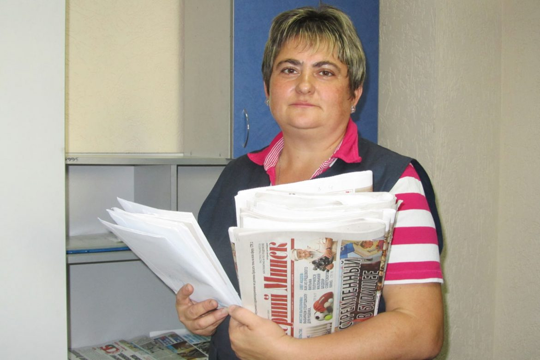 Почтальон Наталья Сундукова