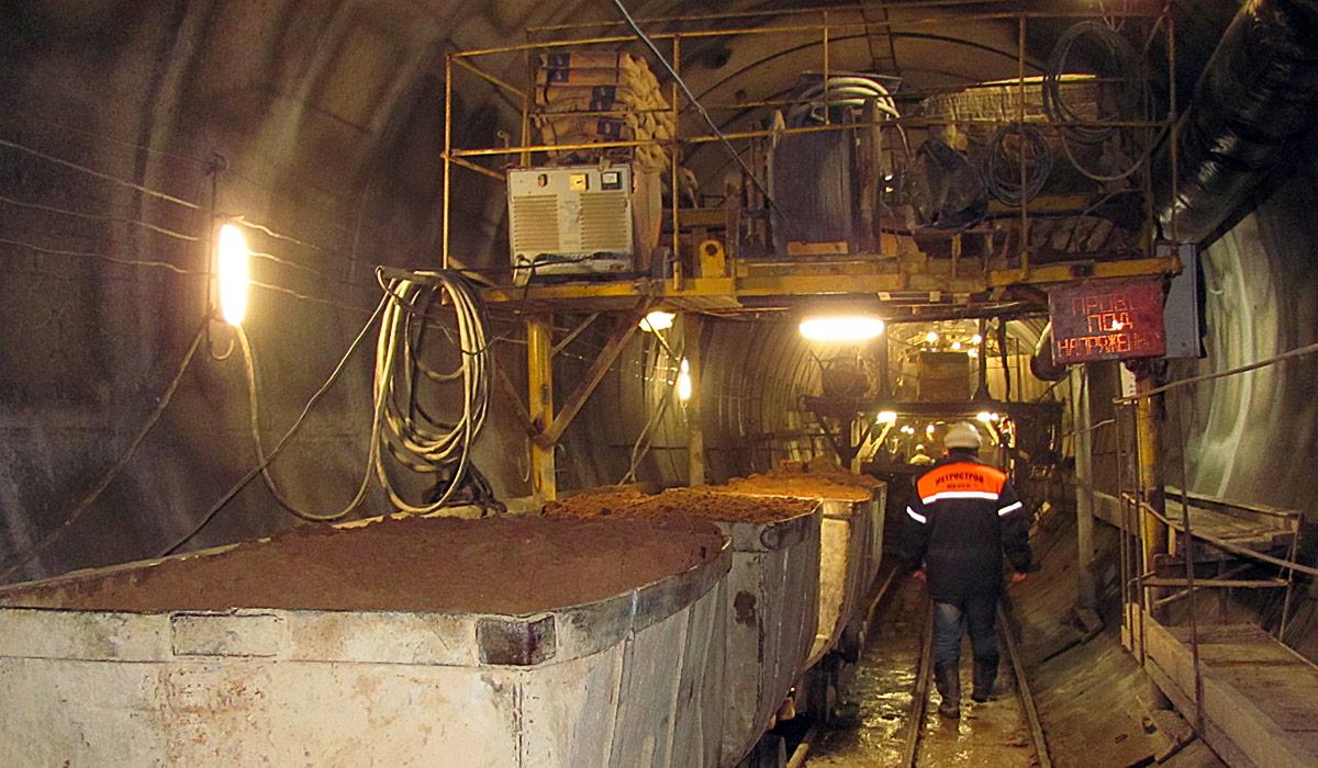 строительство метро, минск