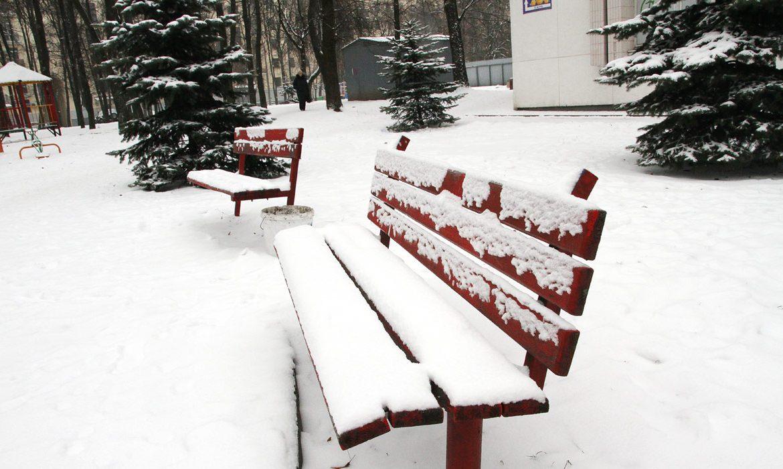 минск, скамейка