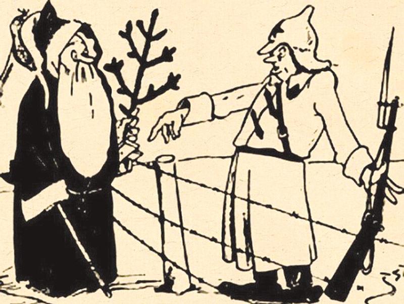 дед мороз, карикатура