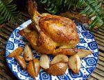 курица с грушами