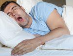 храп, мужчина храпит во сне